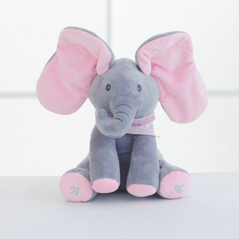 OEM peekaboo elephant plush toy