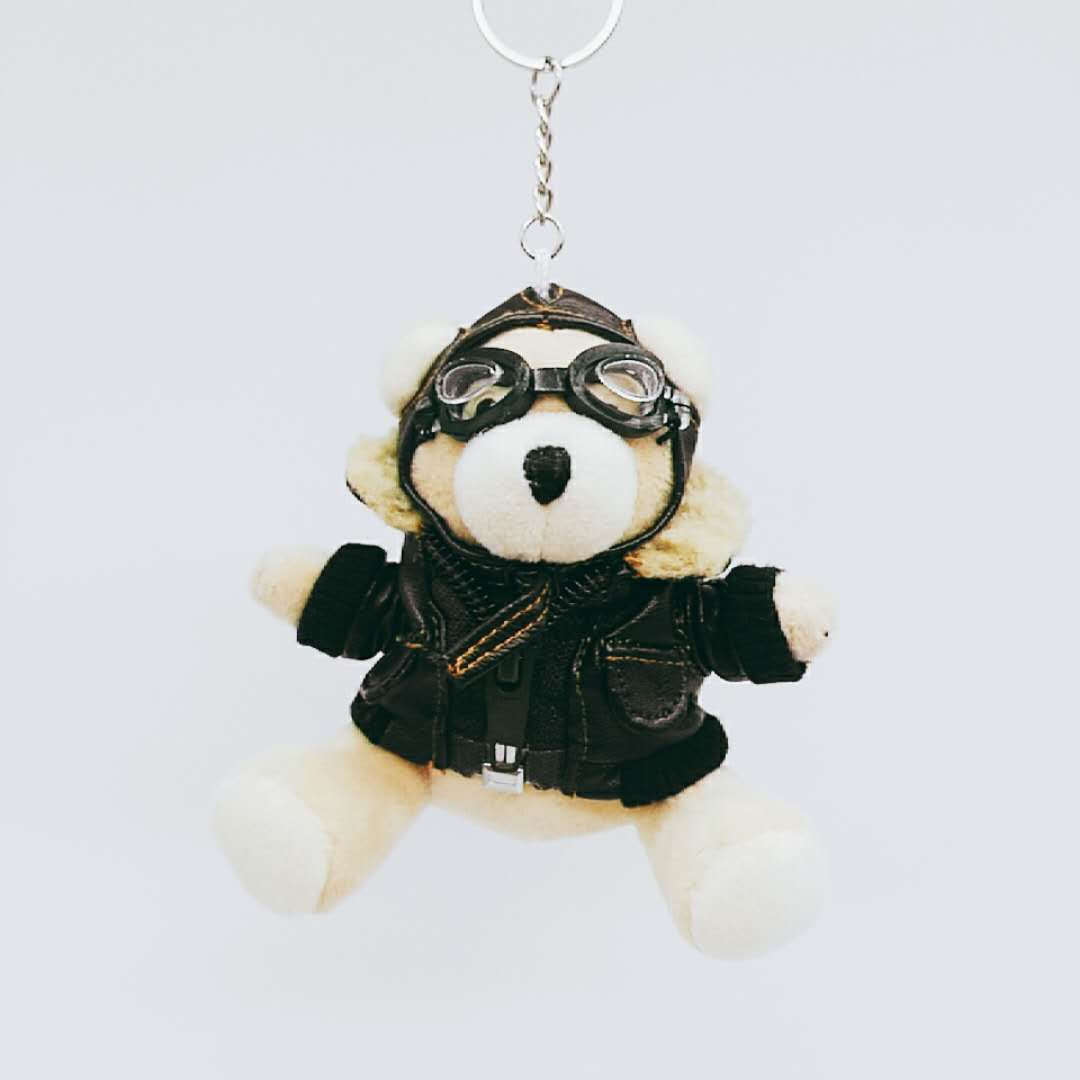 Custom little bear pilot plush