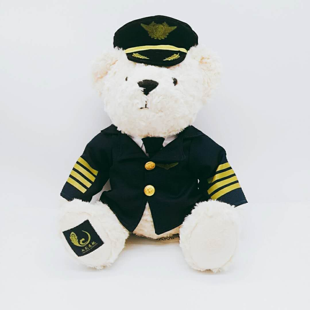 Custom airline captain bear plush toy