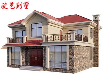 农村小型别墅设计图纸二层欧式乡村自建房屋设计图简单经济型