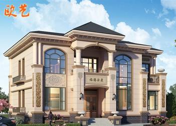 二层欧式别墅设计图纸自建房设计图全套新农村房屋小洋楼土豪的象征