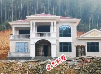 宣汉县二层欧式现代别墅案例展示