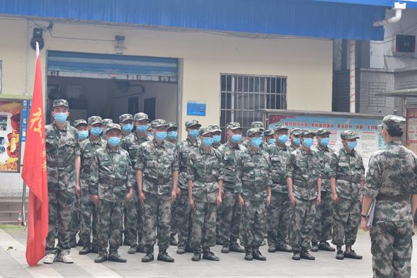 达川区景市镇基干民兵独立应急排开展集结点验