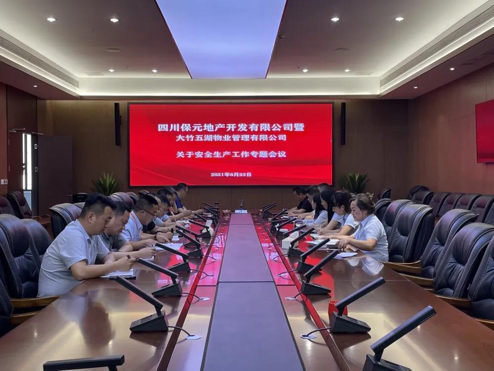 落实安全责任 推动安全发展丨保元地产召开安全生产工作专题会议